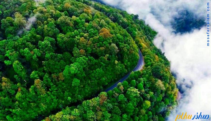 جاده خلخال به اسالم رویایی ترین جاده جنگلی ایران