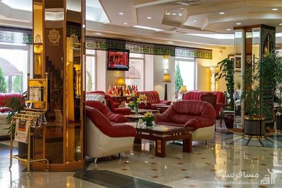 محل انتظار مهمان هتل قصرالضیافه مشهد
