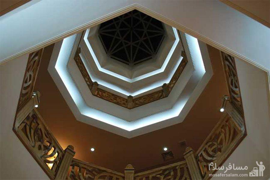 سقف چند ضلعی هتل قصرالضیافه مشهد