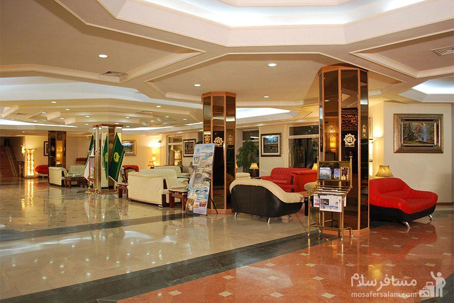 ضلع شمالی لابی هتل قصرالضیافه مشهد