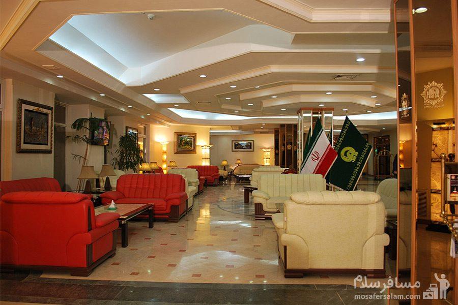 ضلع جنوبی لابی هتل قصرالضیافه مشهد