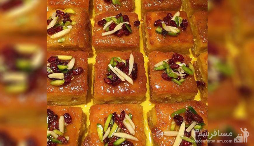 کوکو شیرین, غذاهای مشهد