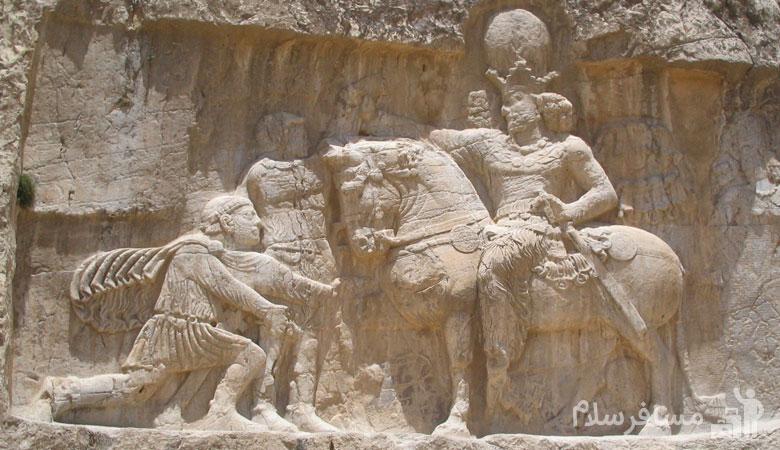 تندیس جنگ شاپور ساسانی اول با رومیان