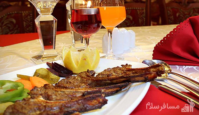 غذای رستوران هتل درویشی مشهد