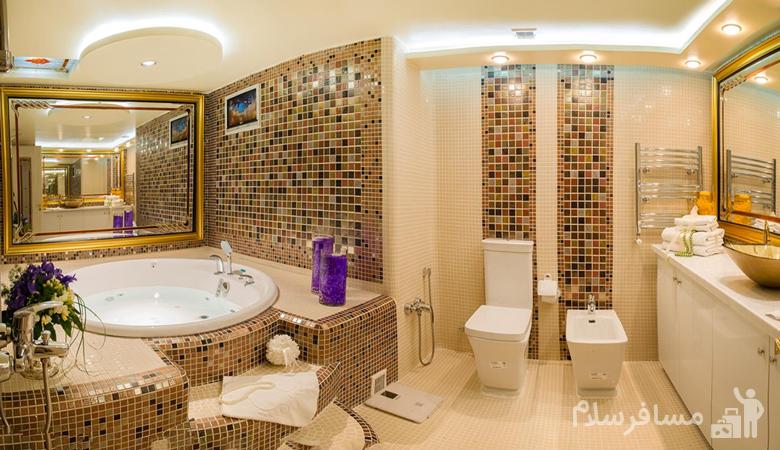 سرویس بهداشتی هتل قصر طلایی مشهد