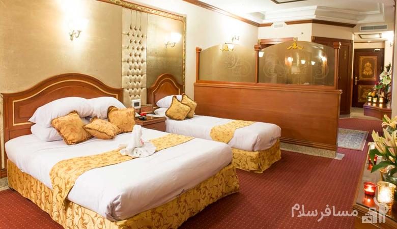 اتاق هتل قصر طلایی