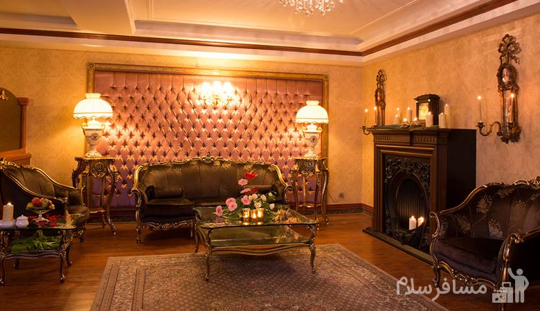 اتاق خواب هتل قصر طلایی مشهد