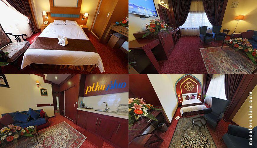 اتاق های هتل مدینه الرضا مشهد