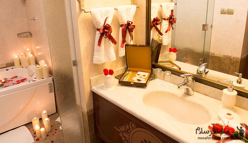حمام اتاق پرنسس هتل قصر طلایی