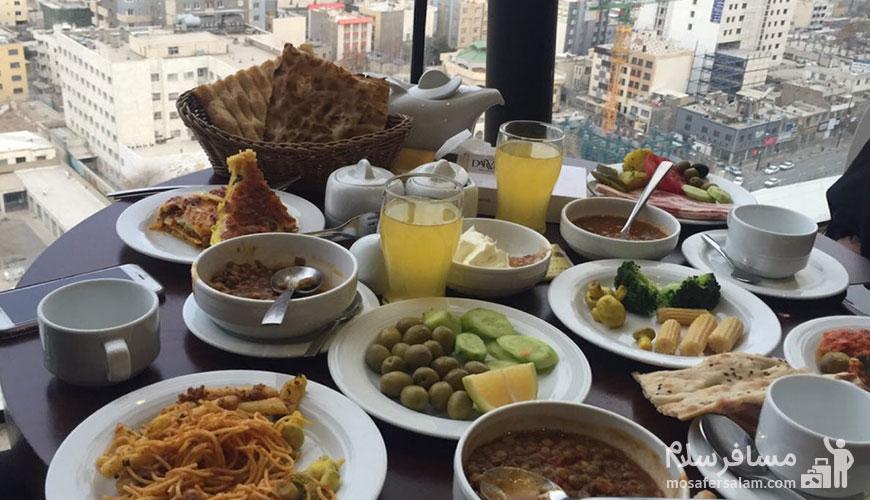 صبحانه هتل درویشی