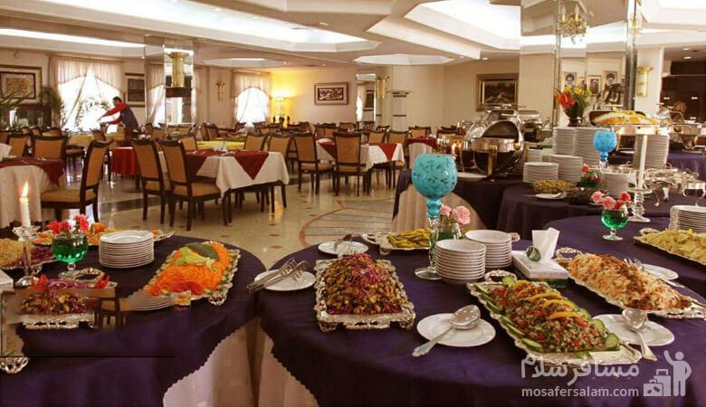 رستوران هتل قصرالضیافه مشهد