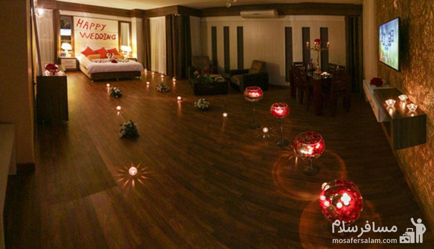 اتاق عروس و داماد در هتل مشهد