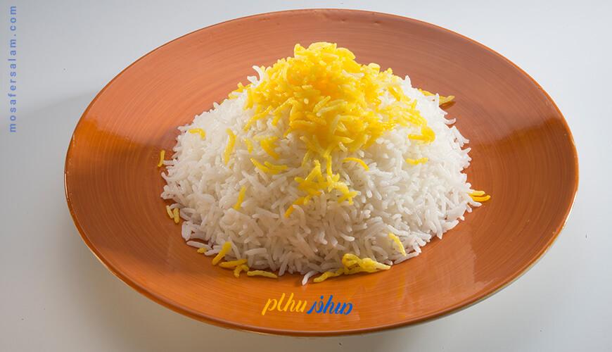 منو انواع برنج هتل درویشی مشهد