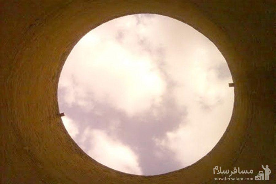 حفره ایجاد شده در سقف برج طغرل