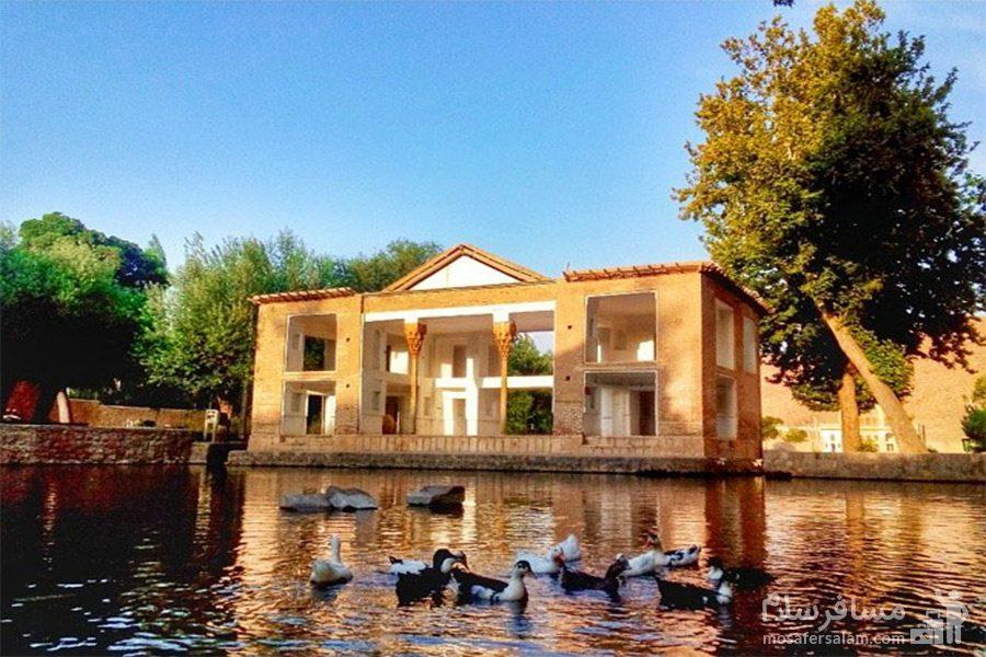 اردک ها در میان چشمه علی دامغان
