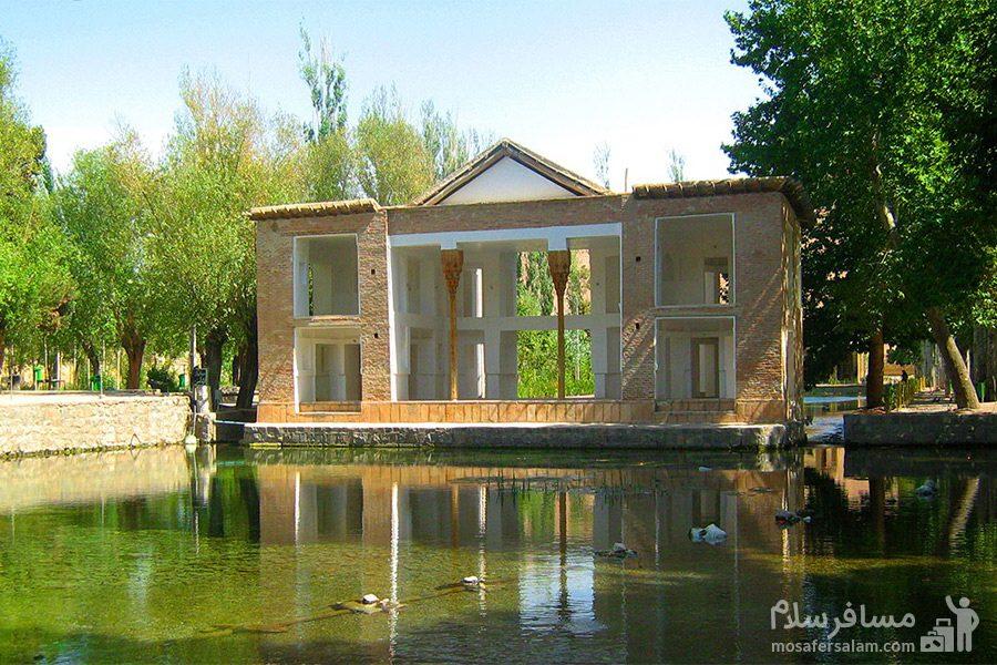 ساختمان زیبا چشمه علی دامغان