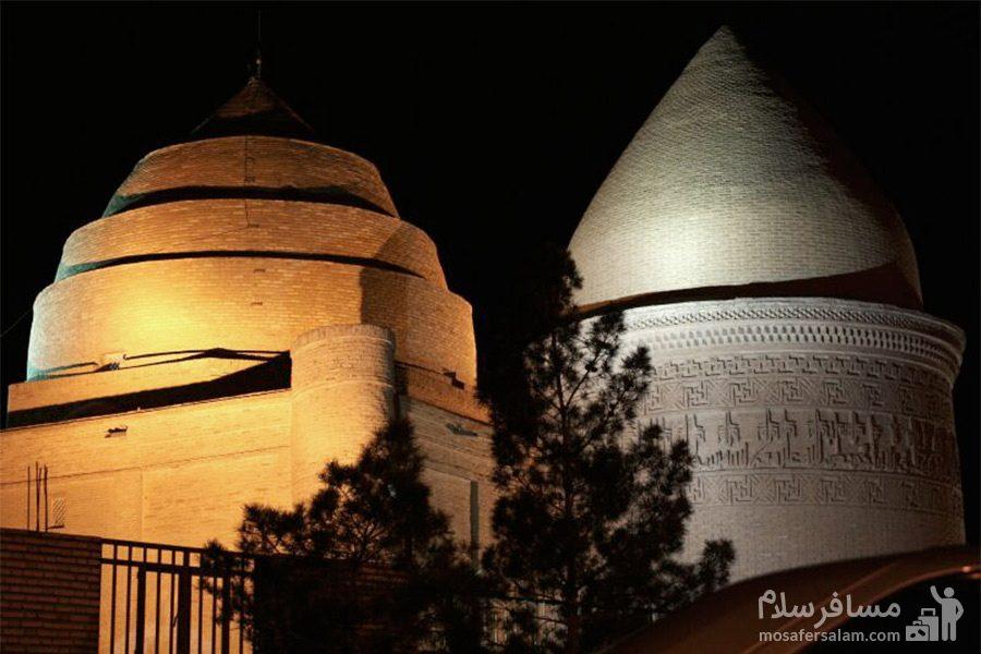 مجموعه امامزاده جعفر(ع) در شب