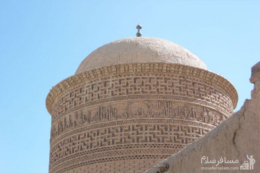 نمایی زیبا از گنبد برج پیر علمدار