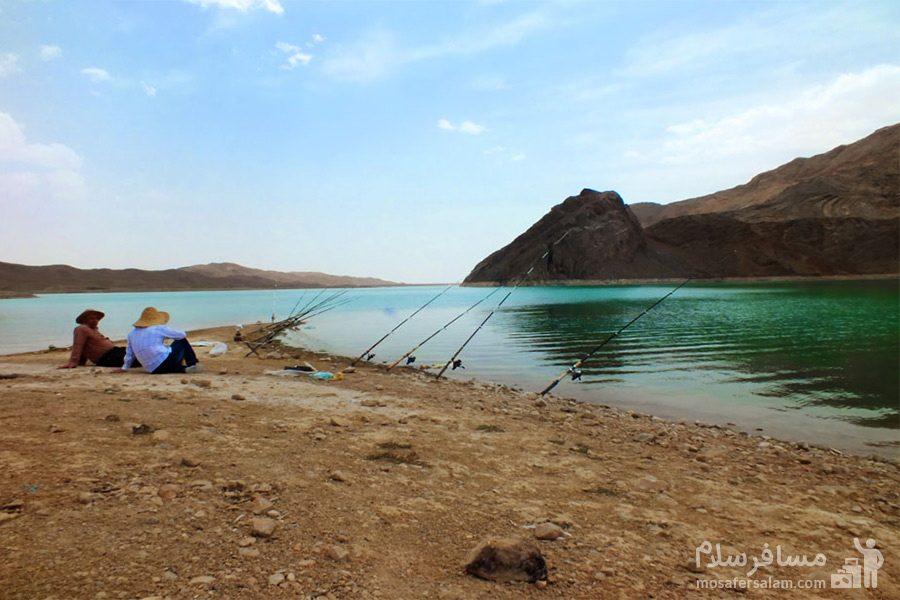 ماهیگیری در سد شهيد شاهچراغی