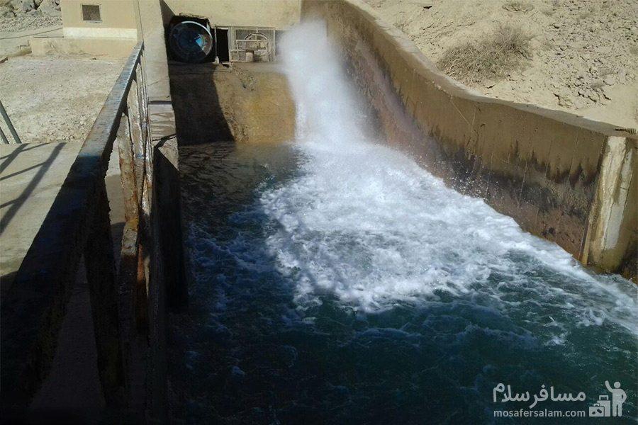 خروج آب از سد شهيد شاهچراغی