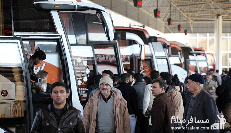 سفر با اتوبوس به مشهد
