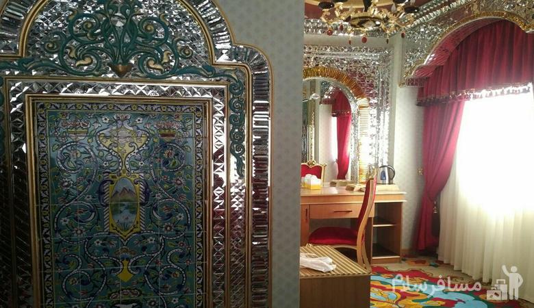 دکوراسیون داخلی سوئیت هانی مون هتل الماس دو مشهد