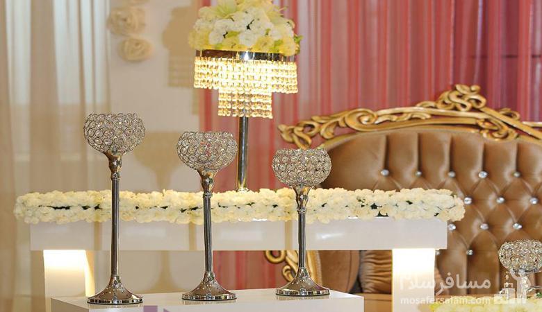 جایگاه اختصاصی عروس و دامادتالار هتل توریست توس مشهد