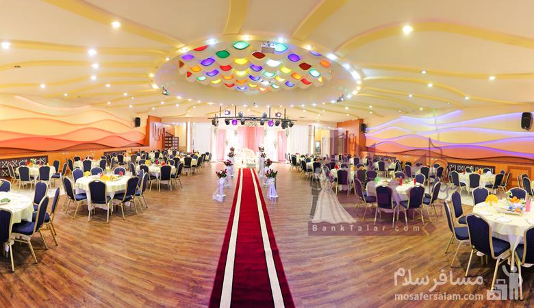 تالار عروسی در هتل توریست توس مشهد