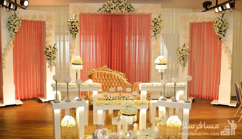 جایگاه عروس و داماد در تالار هتل توریست توس مشهد