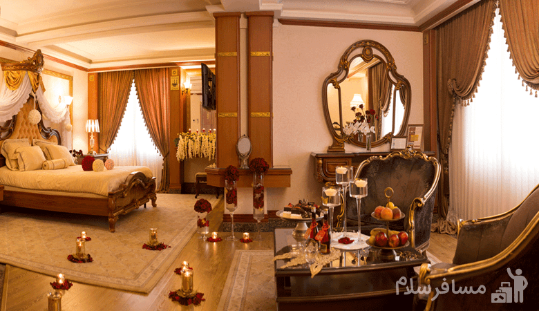 اتاق ماه عسل هتل قصر طلایی مشهد, رزرواسیون مسافر سلام
