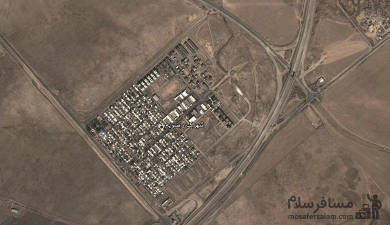نقشه هوایی منطقه رضویه مشهد