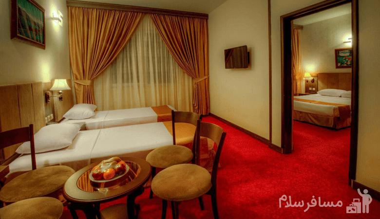 اتاق ماه عسل هتل کیانا مشهد