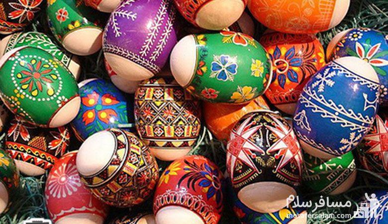 تخم مرغ رنگ شده،سفره هفت سین