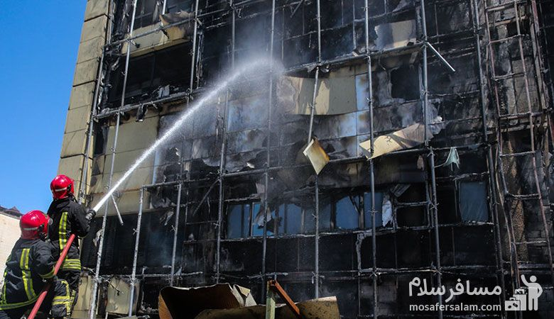 هتل روتانا مشهد، آتش سوزی هتل روتانا مشهد، گروه گردشگری مسافرسلام
