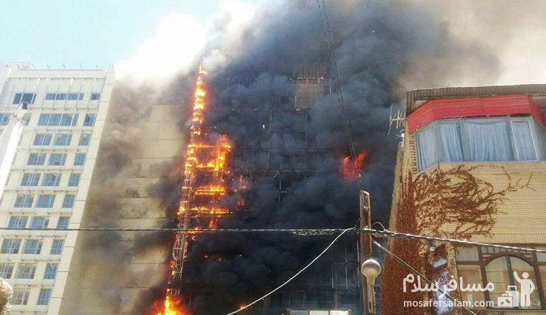 آتش سوزی هتل روتانا مشهد، مسافرسلام