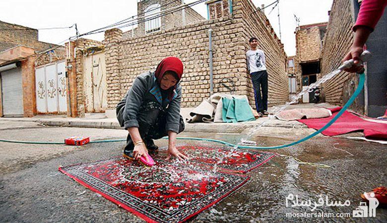 خانه تکانی در کرمانشاه