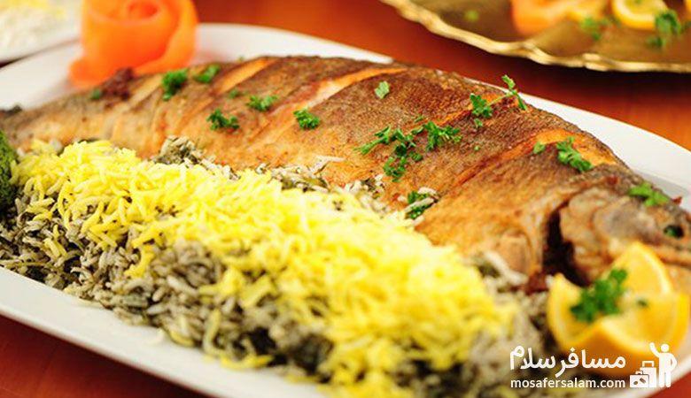 سبزی پلو با ماهی نوروز