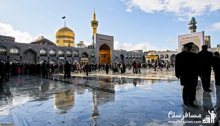 فاصله هتل پارسیس مشهد تا حرم