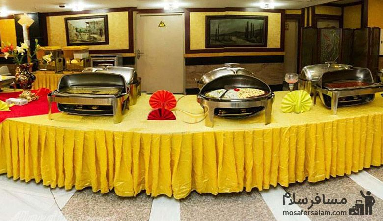 میز نهار هتل بشری، هتل بشری مشهد، رزرواسیون مسافرسلام
