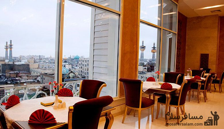 رستوران هتل بشری، هتل بشری مشهد، رزرواسیون مسافرسلام