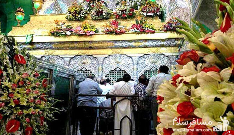 بارگاه ملکوتی امام رضا در لحظه سال تحویل