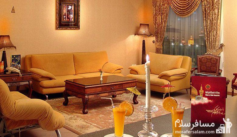 سوئیت هتل قصر الضیافه مشهد, رزرواسیون مسافر سلام