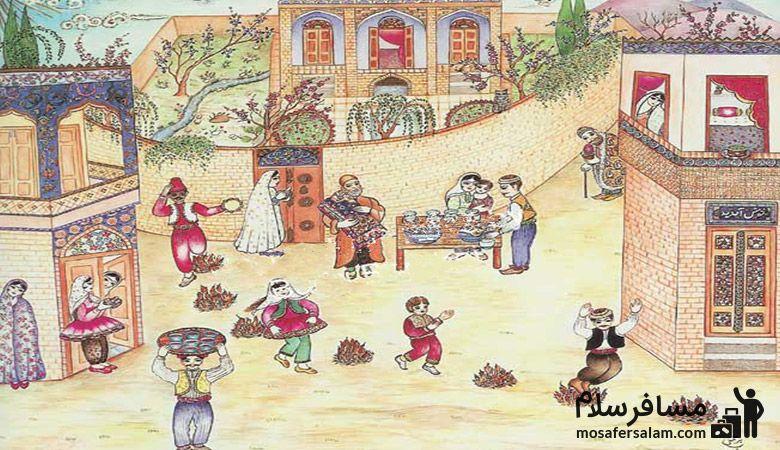 چهارشنبه سوری در قدیم