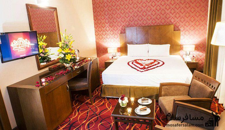 اتاق های هتل پارسیس مشهد