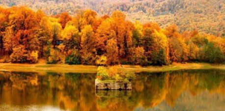 پاییز دریاچه عباس آباد