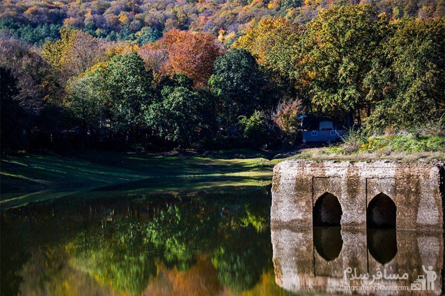 زیبایی دریاچه عباس آباد