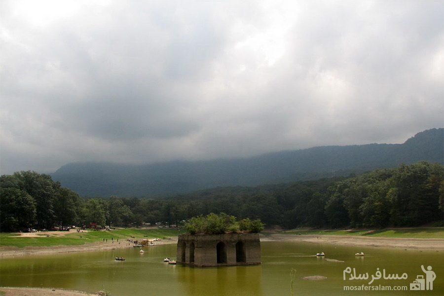 آسمان دریاچه عباس آباد