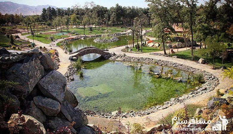 نمایی از برکه باغ گیاه شناسی مشهد