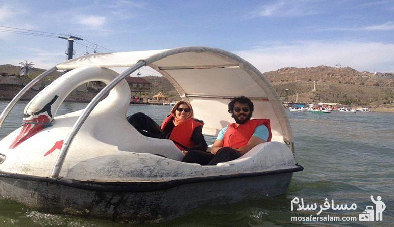قایق پدالی چالیدره مشهد