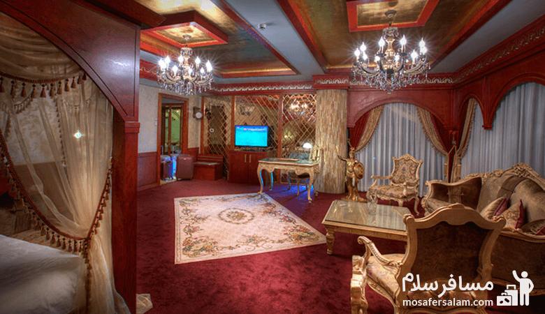 Mashhad-Luxury-Dervish-Hotel، اتاق هتل درویشی مشهد